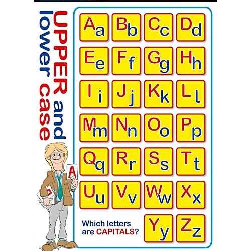 Which Letters Are Capitals? Educational Wall Chart