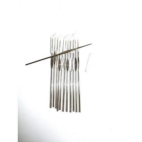 12Pcs Aluminum Handle Knitting Crochet Hook Needles Pin