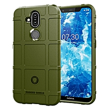 Nokia 8.1 Case Rugged Silicone Duty Shock-Proof Phone Case Cover