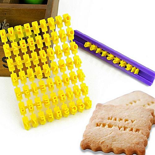 New Alphabet Letter Number Cake Mould Biscuit Cookie Press Stamp DIY