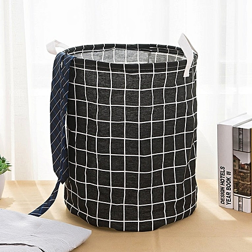 Folding Fabric Waterproof Coating Laundry Basket Bucket Dirty Clothes Toy Storage With Handle