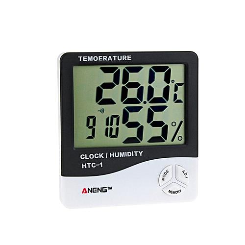 HTC-1 Digital Temperature Humidity Meter Alarm Clock Thermometer Hygrometer
