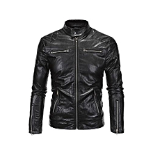 4c9c2cacafb3 New British Leather High Quality Stand-up Biker Leather Punk Leather Jacket  Jacket Y619