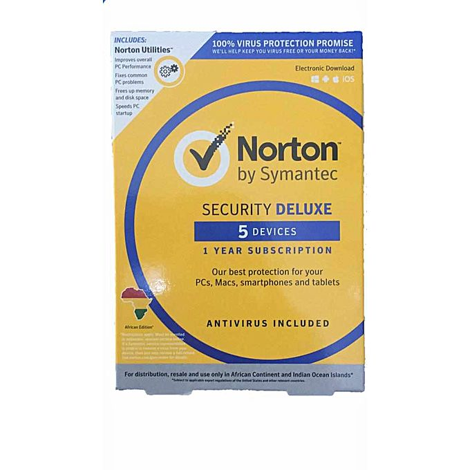 Norton Security Deluxe 5PCs, Macs, Smartphones Or Tablets ...