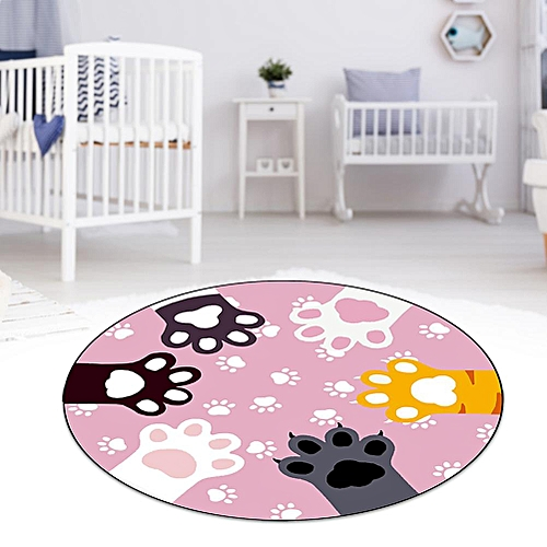 Non-slip Round Chair Sitting Area Washable Rug Living Room Bedroom Decor