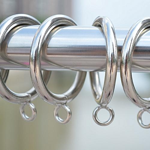 50PCS (Diameter:28mm) Rome Bar Hoop Hook Hanging Ring /Metal Drapery Curtain Clip / Curtain Accessories