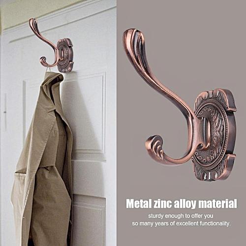 Antique Bathroom Metal Door Towel Hanger Holder Clothes Coat Hat Bag Hook Wall Mount