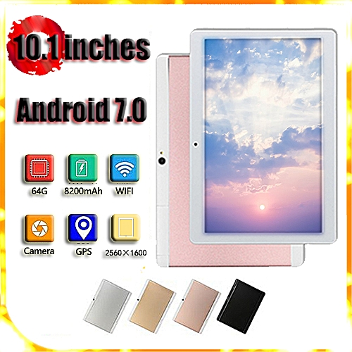 HOT SALE 10 1'' 4G+64GB Android 7 0 Tablet PC Octa 8 Core HD WIFI Bluetooth  2 SIM 4G NEW