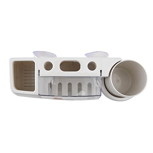 Cartoon Toothbrush Holder Wash Set Strong Wall Suction Rinsing Mug Storage Rack