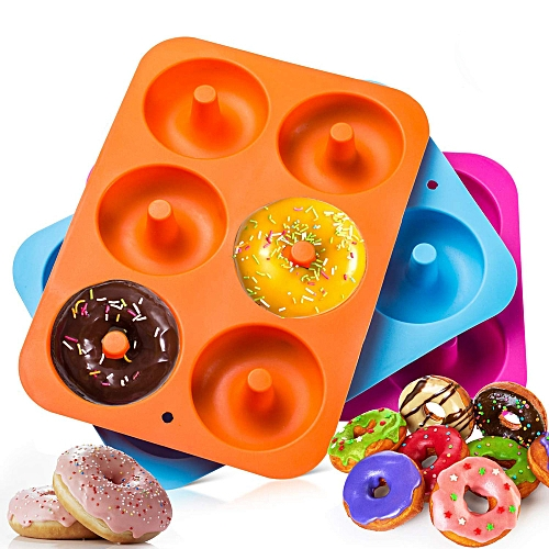 3PC Silicone Donut Baking Pan Non-Stick Mold Dishwasher Decoration Tools