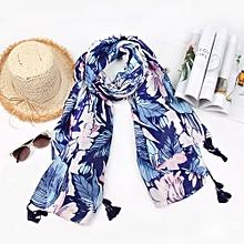 8a324b8c9bb Fashion Women Floral Stripe Printing Scarf Fashion Retro Female  Multipurpose Shawl Scarf