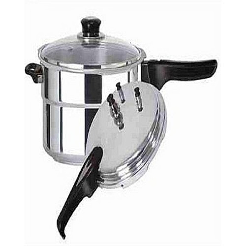 Pressure Cooker 9 Ltrs With Extra Glass Cover