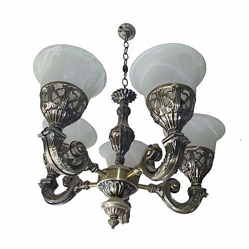 Buy TL Chandelier Lighting, 5 Hand Lighting Chandelier ( Brass Color ...