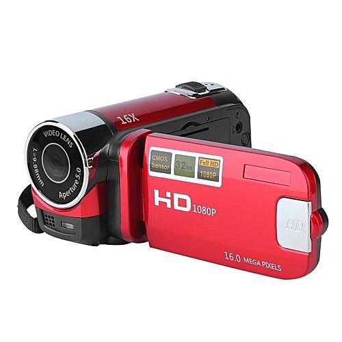 2.7'' TFT LCD Full HD 720P Digital Video Camcorder 16x Zoom DV Camera US Plug (red)