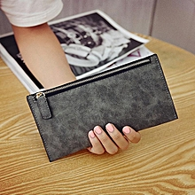 4f714bff96d2f6 Fashion Solid Color Long Wallet Zipper Purse Phone Cards Keys Handbag For  Women