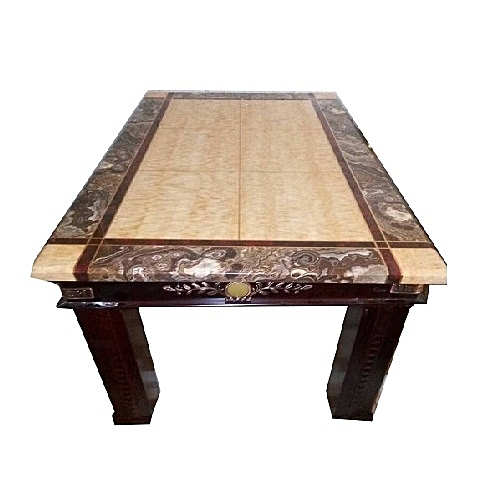 Marble Top Coffee Center Table With Wooden Legs