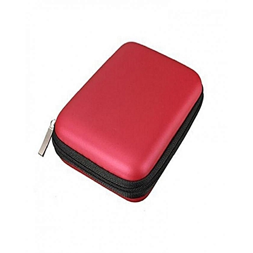 Universal 2.5 Inch Portable External Hard Drive Pouch Case - Red