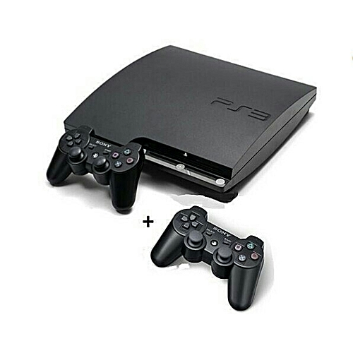 PS3 Slim Console 320GB Plus 2 Controllers & 21 Latest Games Including FIFA 2019 & FIFA 2018 + PES 2018 Downloaded Inside