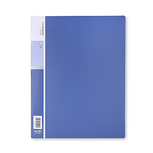 Deli 5002 A4 Display Book With 20 Pages - Blue