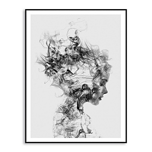 Modern Art Canvas Paintings Black & White Wall Picture Poster Gift Home Decor#15cm*20cm