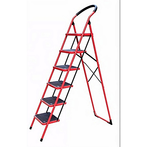 6 STEP STAINLESS STEEL LADDER