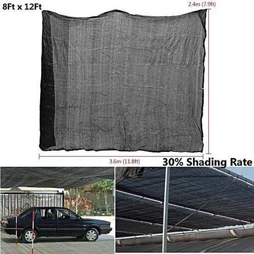 12ftx8ft Polyethylene 30% Sunblock Shade Cloth For Plant Cover Greenhouse Barn