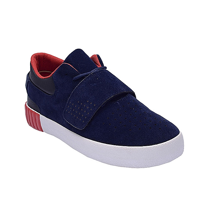 f8f7ecbad015 HZB Suede Lace Up Sneakers With Velcro - Blue