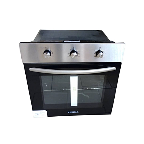 60cm Phiima Built In Gas Oven Silver