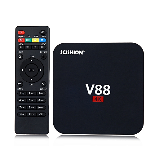 V88 TV Box Rockchip 3229 Quad Core 4K H.265 1GB DDR3 RAM