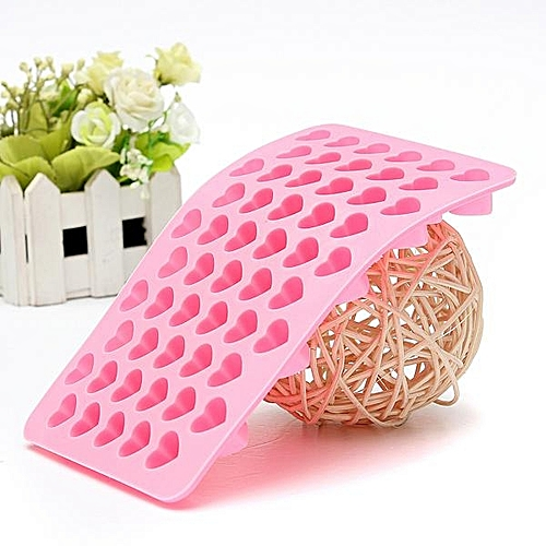 Silicone 55 Heart Cake Chocolate Cookie Candy Sugar Baking Mould Soap Mold