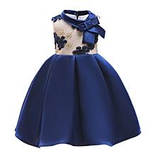 d450e85ef Kids Wedding Dress Girl Sleeveless Princess Dress Ball Gown Dress Birthday  Gift Blue