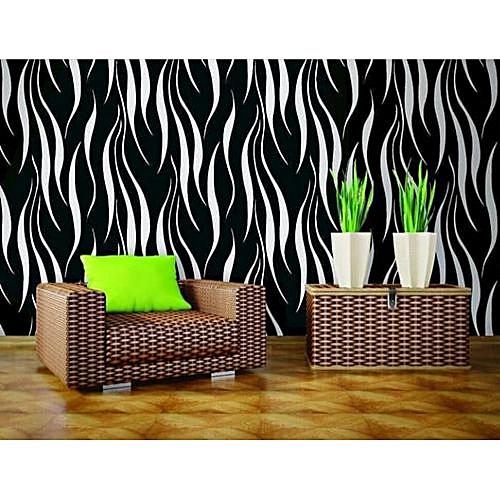 Black Flock Texture Wallpaper - 5.3 SQM