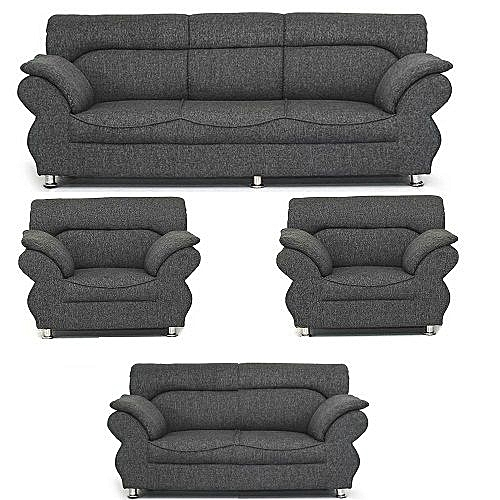 PAWA FURNITURE 'ABUNDO SUPER GREY' 7 Seaters Sofa + Free Ottoman. Free Delivery To Only Lagos Customers.