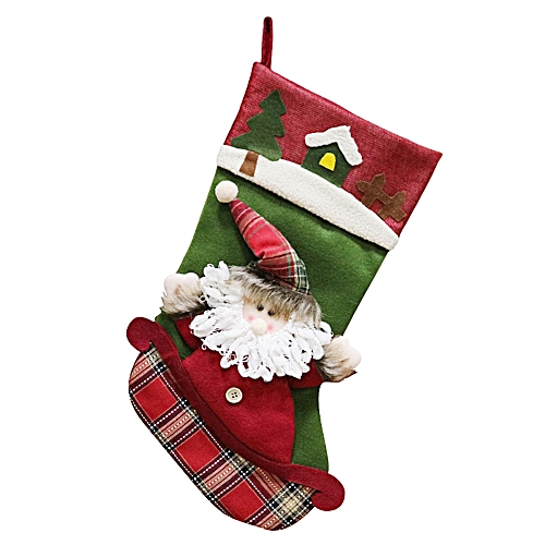 XINDUN XD19201 Xmas Stocking Father Christmas Gift Bag Mantel Decor