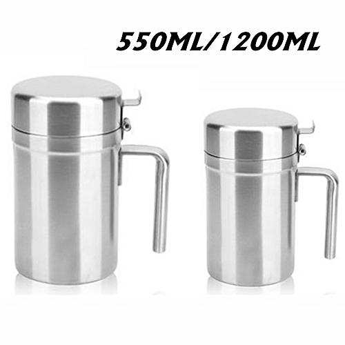 550-1200ml Stainless Steel Olive Oil Dispenser Pot Jar Bottle Kitchen Leakproof