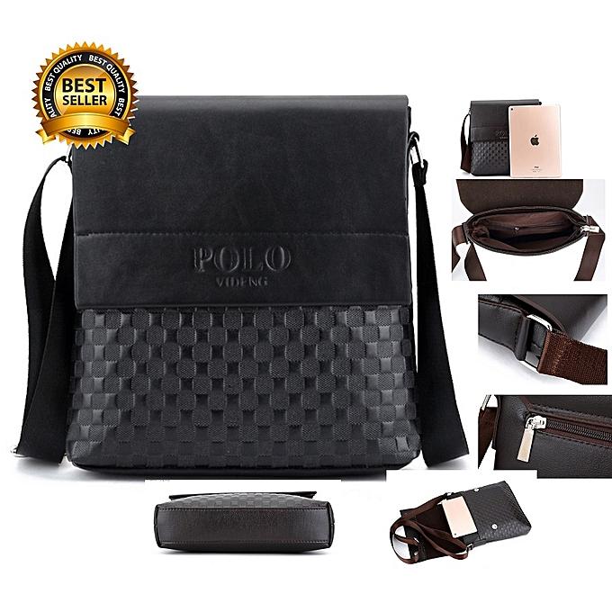 695608651e Polo Videng Men PU Leather Shoulder Bag Cross Body Bag  Business Bag ...