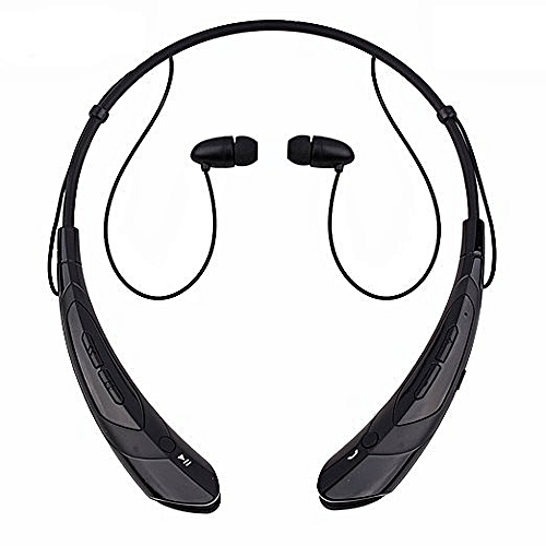 Bluetooth Headphones Bluetooth Headsets Wireless Hand-free Neckband Earbuds For Sport/running/exercise Lightweight Sweat-proof Noise Cancelling Earbud For Cell Phones (Black)