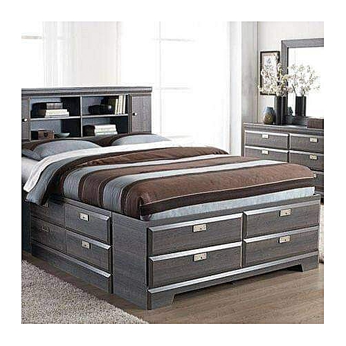 Nelson Grand 6by8 Bed+Mirror+FREE Pillow-FREE Lagos Delivery