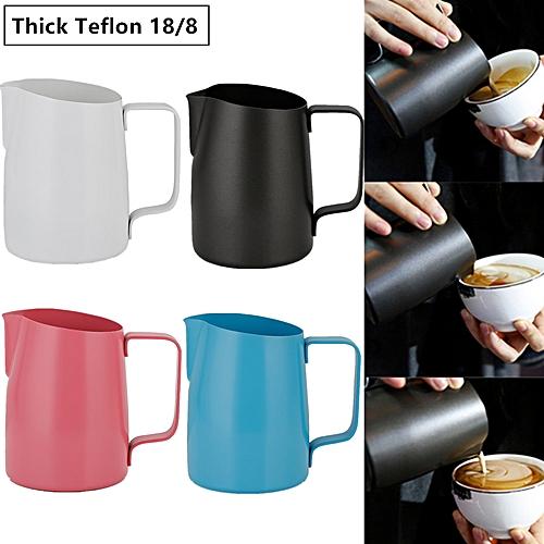 Teflon 18/8 Pitcher Latte Art Coffee Milk Frothing Foam Jug