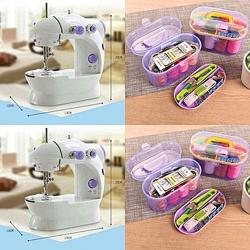 Multifunctional Electric/Battery Mini Sewing Machine+Free Sewing Kit- Random Colour