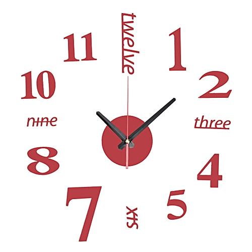 Large Wall Clock Big Watch Decal 3D Stickers Roman Numerals DIY Wall Modern