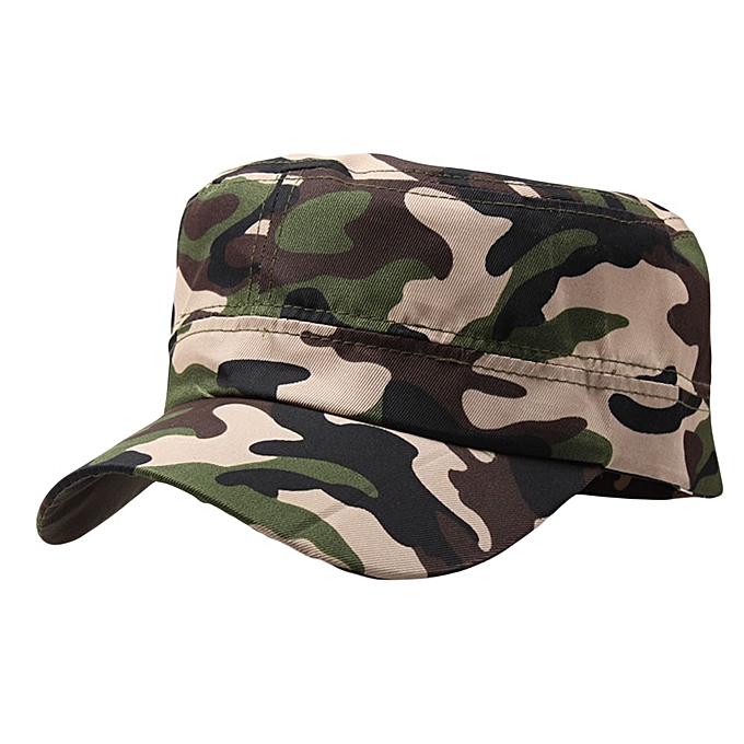 cffa6202a3e65 Yanicevr Outdoor Camo Tactical Plain Vintage Army Military Cadet Style Cap  Hat Adjustable