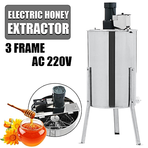 3 Frame Electric Honey Extractor Honey Gate Valve Tap Stainless Steel Drum