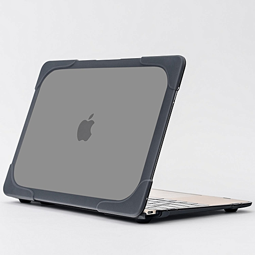 """TPU + PC Double Layer Protective Case Apple MacBook Retina 12"""" Case / Soft-Touch Plastic Hard Case Cover For MacBook Retina 12 Inch A1534 -Grey"""