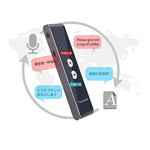 Portable Smart Speech Translator Two-Way Real Time 30 Multi-Language Translation For Learning Travelling Business Meeting WOEDA