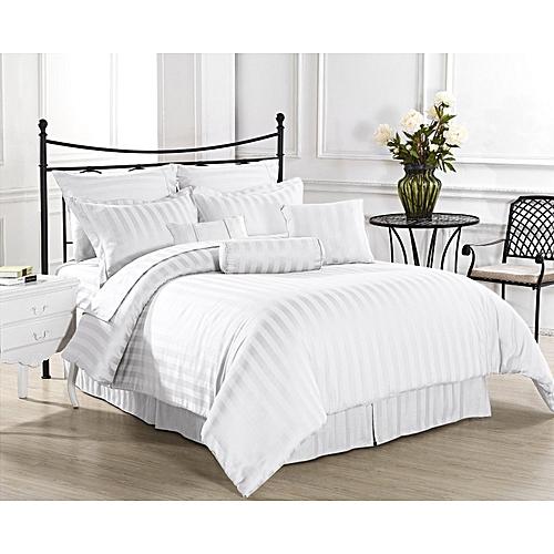 Egyptian White Stripe Bedsheet -luxury Hotel Collection