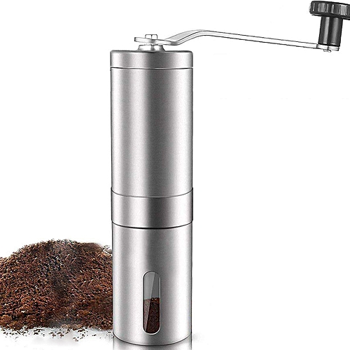 Manual Coffee Grinder, Adjustable Ceramic Conical Burr Brushed Stainless Steel Coffee Beans Manual Grinder Portable Travel And Handheld Mini Coffee Mill For Travel