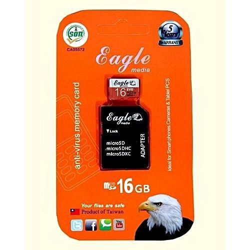 Buy Eagle 16GB Antivirus Smart Micro SD/SDHC/SDXC Memory Card With ...
