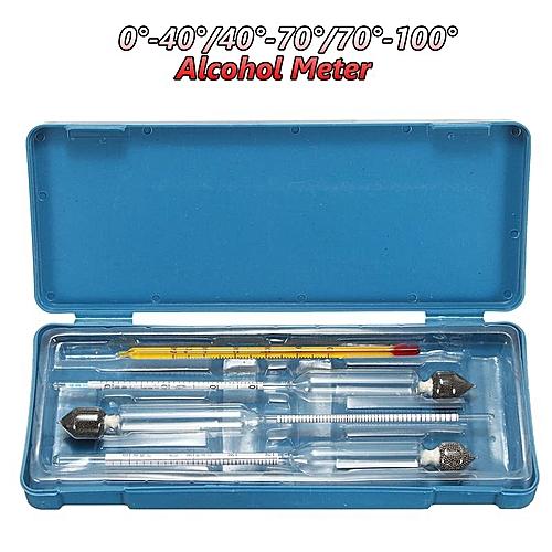 3Pcs Hydrometer Vinometer Meter Test Thermometer 0-100% 0-40-70-100%