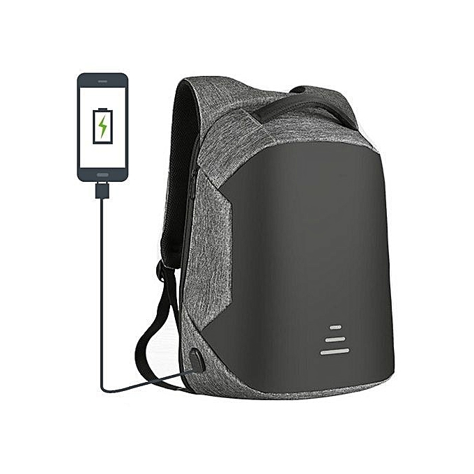 Anti Theft Travel+ USB port Backpack Laptop Bag